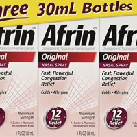 Afrin Original Nasal Spray & Decongestant, Fast/ Powerful Congestion Relief, 3 Bottles of 1 Fl Oz Each.
