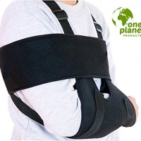 Arm Sling Shoulder Immobilizer by One Planet – Ergonomically Designed Rotator Cuff Sling for Left or Right Arms, Breathable & Lightweight For Best Support & Comfort, Recover Comfortably Now!