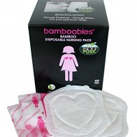 Bamboobies Premium Disposable Nursing Pads – Breathable Milk-Proof Backing – Eco-Friendly – 60 Disposable Nursing Pads