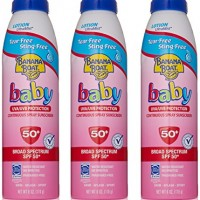 Banana Boat Baby Sunscreen Ultra Mist Tear-Free Sting-Free Broad Spectrum Sun Care Sunscreen Spray – SPF 50, 6 Ounce (Pack of 3)