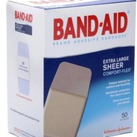 Band-Aid Adhesive Bandages, Sheer Extra Large, 1 3/4″ X 4″, 50 Count