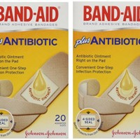 Band-Aid Brand Adhesive Bandages Plus Antibiotic