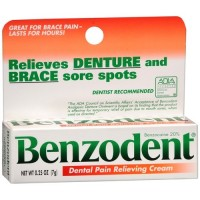 Benzodent Dental Pain Relieving Cream – 0.25 oz, 3 pack