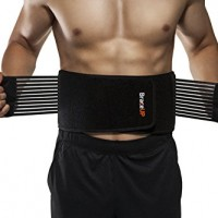 BraceUP Stabilizing Lumbar Lower Back Brace and Support Belt with Dual Adjustable Straps and Breathable Mesh Panels