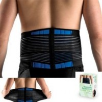 Brand New Deluxe Neoprene Double Pull Lumbar Lower Back Support Brace Exercise Belt