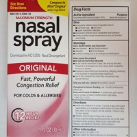 Compare to Afrin Original Perrigo Original Nasal Spray 12 Hour Spray 1 Fl Oz. (30ml) Pack of Two