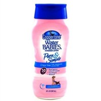 Coppertone Water Babies Sunscreen Lotion, Pure & Simple, SPF 50, 8 oz.