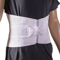 DMI Adjustable Lumbar Support Back Brace with Removable Stays, Large 36 to 42, White