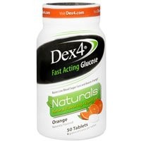 Dex4 Glucose Tablets, Natural Orange