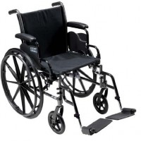 Drive Medical Cruiser III Light Weight Wheelchair with Various Flip Back Arm Styles and Front Rigging Options, Black
