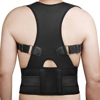 EagleUS® New Fully Adjustable Back Brace for Posture Correction Back Pain Support – Neoprene – Unisex
