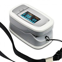 Easy at Home EBP-017 Handheld Portable Digital Blood Oxygen and Pulse Sendor Oximeter Bundle with Carry Case and Neck/Wrist Cord
