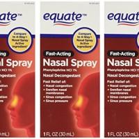 Equate 4-Way Nasal Spray 3-Pack Phenylephrine HCl – 1 fl oz each