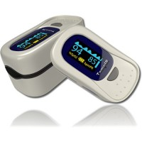 Finger Pulse Oximeter – Portable – FDA Approved – Digital Blood Oxygen and Pulse Sensor Meter with Alarm – SPO2 – For Adults, Children, Sports use only – TempIR for Reliability and Excellent Customer Care