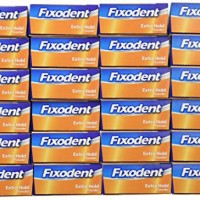 Fixodent Extra Hold Denture Adhesive Powder 1.6 Ounce (Pack of 24)