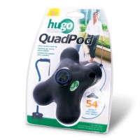 Hugo Mobility Quadpod Ultra Stable Cane Tip with Compact Quad Design, 3/4 Inches, Black