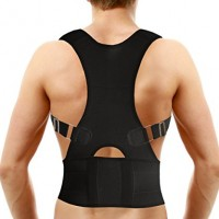 Medical-Grade Adjustable Magnetic Posture Support Back Brace – Relieves Neck, Back and Spine Pain – Improves Posture