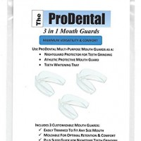 Mouth Guard from ProDental – BPA Free – Teeth Grinding Night Guard, Athletic Mouth Guard, Teeth Whitening Tray – Includes 3 Customizable for Comfort Dental Guards – Hygienic, FDA Approved Soft Material – Made in USA