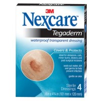 Nexcare Tegaderm Transparent Dressing 4 Inch X 4 3/4 Inch, 4-Count