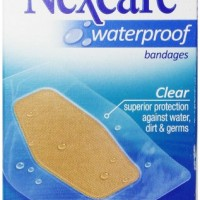 Nexcare Waterproof Clear Bandage, Knee and Elbow (Pack of 6)