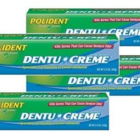 Polident Dentu-Creme, Triple Mint Freshness, 5.75 Ounce (Pack of 4)