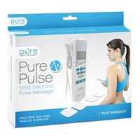 PurePulse Electronic Pulse Massager – Portable, Handheld TENS Unit Muscle Stimulator for Pain Management – Treats Tired and Sore Muscles in Your Shoulders, Neck, Back, Waist, Legs, and More