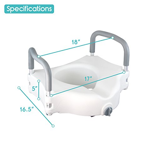 Raised Toilet Seat By Vive Best Portable Elevated Riser