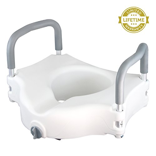 Raised Toilet Seat by Vive - Best Portable Elevated Riser with ...