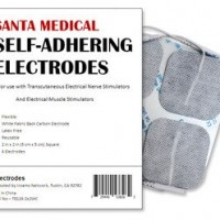 Santamedical 40 pack of 2″ X 2″ Re-Usable TENS/EMS Unit Electrode Pads with Premium Gel (White Cloth)