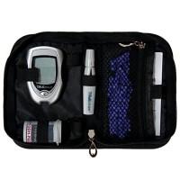 SumacLife Diabetic Organizer Carrying Case Kit (Black)