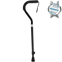 Walking Cane By Vive – Best Adjustable Cane for Men & Women – Sturdy Design Makes It the Ultimate Walking Aid – Slip-proof Rubber Gives Staff Added Safety – Lifetime Guarantee