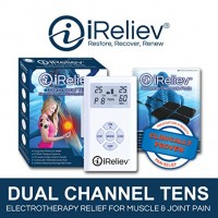 iReliev TENS Unit & (8) Electrodes Pain Relief Bundle-100% Satisfaction or 14 Day $$ Back Guarantee. 2 Year Warranty.