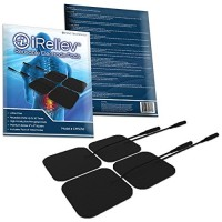 iReliev TENS + EMS Combination Unit Muscle Stimulator for Pain Relief & Arthritis & Muscle Strength – Treats Tired and Sore Muscles in Your Shoulders, Back, Ab's, Legs, Knee's and More
