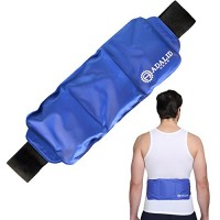 Back Wrap with Hot & Cold Therapy for Pain Relief on Large Areas of Your Body (Torso, Shoulders, Lumbar, Etc.) | Adjustable, Flexible, Microwaveable & Reusable