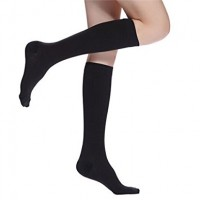 Compression Socks 30-40 mmHg,Knee High,One Size-Ladies Shoe Size 4-10,Men Shoe Size 5-9 ,Black