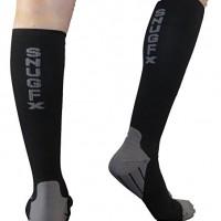 Snugfx Graduated Compression Performance Socks 20-30 mmHg~ Men & Women, Best Varicose Vein & Pregnancy Stockings, Nurses Fatigue & Travel Flight Socks, Athletic, Running & More! 1 Pair 100% Guaranteed