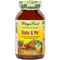 MegaFood – Baby & Me, Prenatal & Postnatal Support for Mother & Baby, 120 Tablets (FFP)