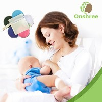 Organic-Bamboo-Nursing-Pads-10-Pack-With-Laundry-Bag-Reusable-Ultra-Absorbent-Super-Soft-Irritation-Free-Washable-Breastfeeding-Pads-for-Mothers-0-2