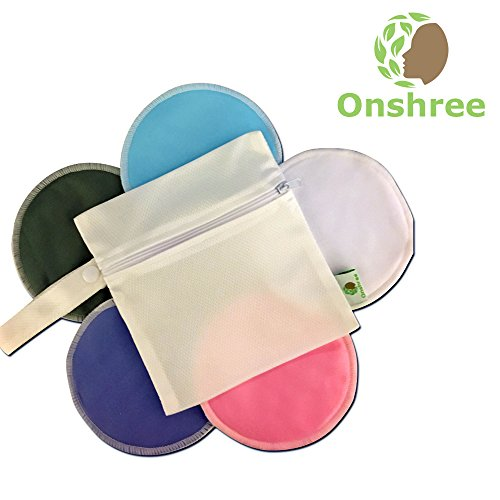 Organic-Bamboo-Nursing-Pads-10-Pack-With-Laundry-Bag-Reusable-Ultra-Absorbent-Super-Soft-Irritation-Free-Washable-Breastfeeding-Pads-for-Mothers-0-3