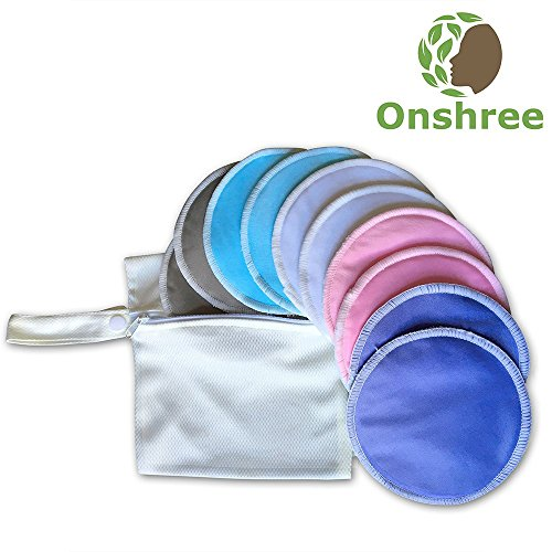 Organic-Bamboo-Nursing-Pads-10-Pack-With-Laundry-Bag-Reusable-Ultra-Absorbent-Super-Soft-Irritation-Free-Washable-Breastfeeding-Pads-for-Mothers-0