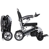 Foldawheel PW-1000XL Power Chair – 55 lbs only, heavy duty (Supports 330 lbs) Foldable in just 2 seconds. Comes with a thick & tuff travel bag. Electric power motorized wheelchair.