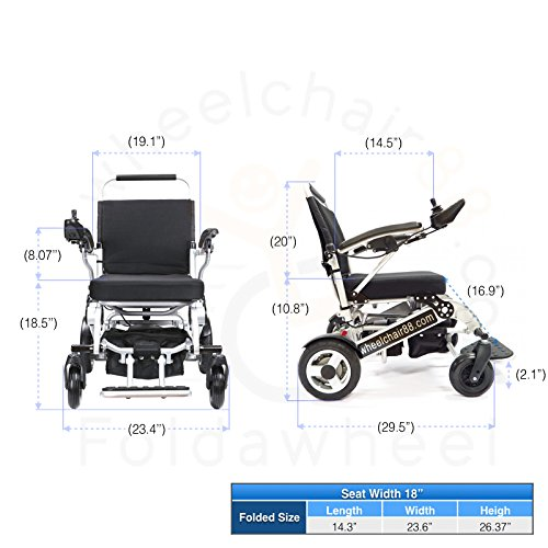 Foldawheel-PW-1000XL-Power-Chair-55-lbs-only-heavy-duty-Supports-330-lbs-Foldable-in-just-2-seconds-Comes-with-a-thick-tuff-travel-bag-Electric-power-motorized-wheelchair-0-5