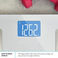 Balance-High-Accuracy-Digital-Body-Fat-Scale-Accurate-Health-Metrics-Body-Fat-and-Weight-Measurements-Glass-Top-with-Large-Backlit-Display-0-2