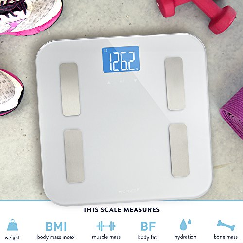 Balance-High-Accuracy-Digital-Body-Fat-Scale-Accurate-Health-Metrics-Body-Fat-and-Weight-Measurements-Glass-Top-with-Large-Backlit-Display-0-3