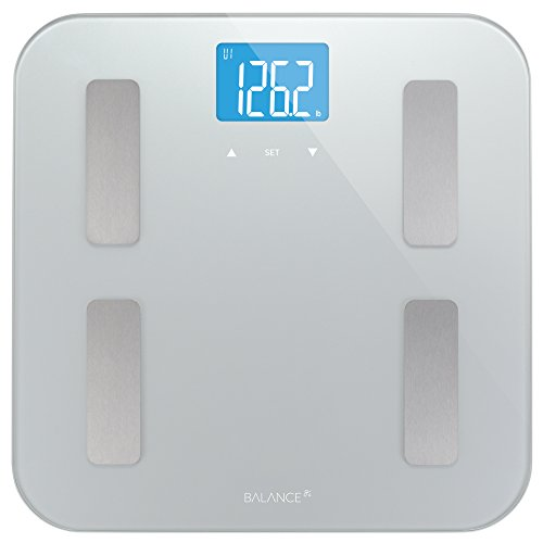 Balance-High-Accuracy-Digital-Body-Fat-Scale-Accurate-Health-Metrics-Body-Fat-and-Weight-Measurements-Glass-Top-with-Large-Backlit-Display-0