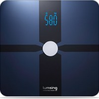 Bluetooth Body Fat Scale, Lumsing Smart Body Fat Monitor 400lb, Measures Body Weight, Body Water, Body Fat, BMI, BMR(KCAL), Muscle Mass, Bone Mass and Visceral Fat with App for iOS, Android Devices