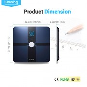 Bluetooth-Body-Fat-Scale-Lumsing-Smart-Body-Fat-Monitor-400lb-Measures-Body-Weight-Body-Water-Body-Fat-BMI-BMRKCAL-Muscle-Mass-Bone-Mass-and-Visceral-Fat-with-App-for-iOS-Android-Devices-0-3