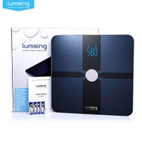 Bluetooth-Body-Fat-Scale-Lumsing-Smart-Body-Fat-Monitor-400lb-Measures-Body-Weight-Body-Water-Body-Fat-BMI-BMRKCAL-Muscle-Mass-Bone-Mass-and-Visceral-Fat-with-App-for-iOS-Android-Devices-0-4