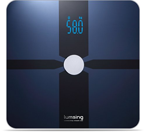Bluetooth-Body-Fat-Scale-Lumsing-Smart-Body-Fat-Monitor-400lb-Measures-Body-Weight-Body-Water-Body-Fat-BMI-BMRKCAL-Muscle-Mass-Bone-Mass-and-Visceral-Fat-with-App-for-iOS-Android-Devices-0