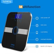 Body-Fat-ScaleLumsing-Smart-Digital-Body-Weight-Monitor-High-Percision-400lbs-Capacity-Measures-Weight-Body-Fat-BMI-Water-Muscle-and-Bone-Mass-Black-0-0